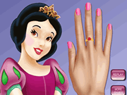 Princess Snow White Nails Makeover