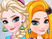 Elsa And Rapunzel Matching Outfits a Free Games