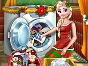 Elsa Washing Christmas Toys