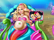 Pregnant Barbie Mermaid Emergency