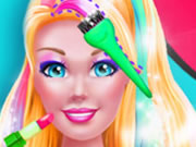 Super Barbie Hair and Make Up