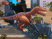 T Rex Rampage Prehistoric Pizza
